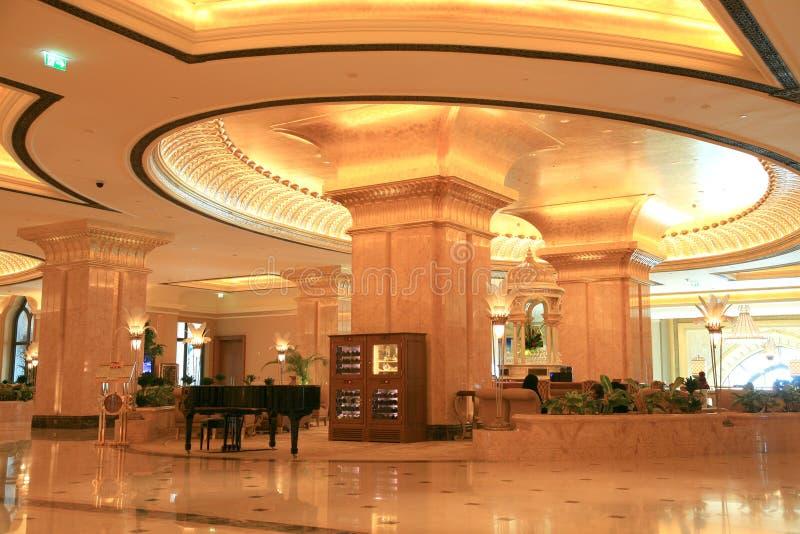 Entrada do palácio dos emirados foto de stock