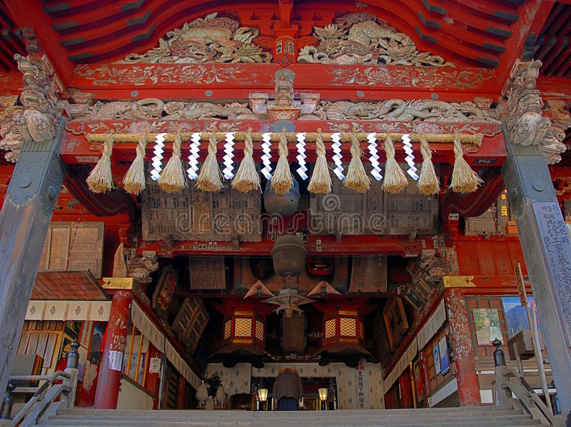 Entrada do santuário de Fuji Sengen foto de stock royalty free