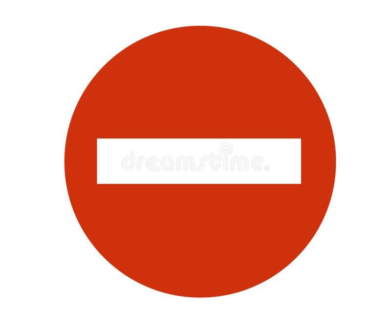 A entrada do sinal é proibida. fotografia de stock royalty free