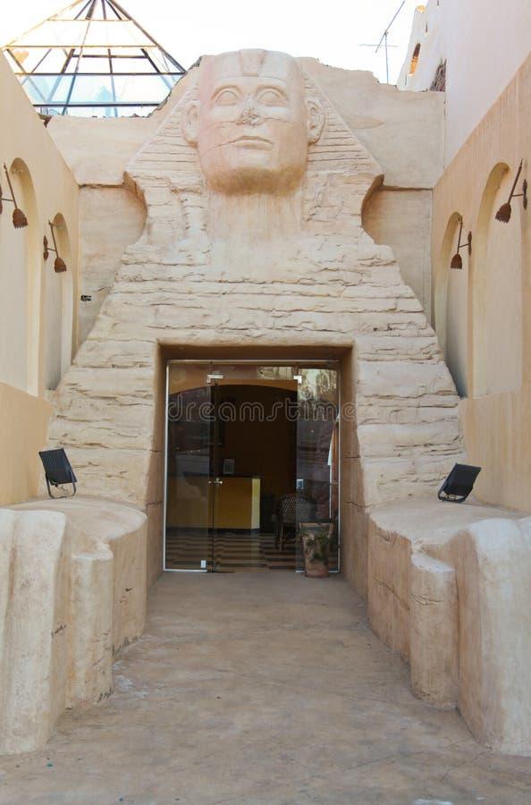 Entrada do Sphinx fotografia de stock royalty free