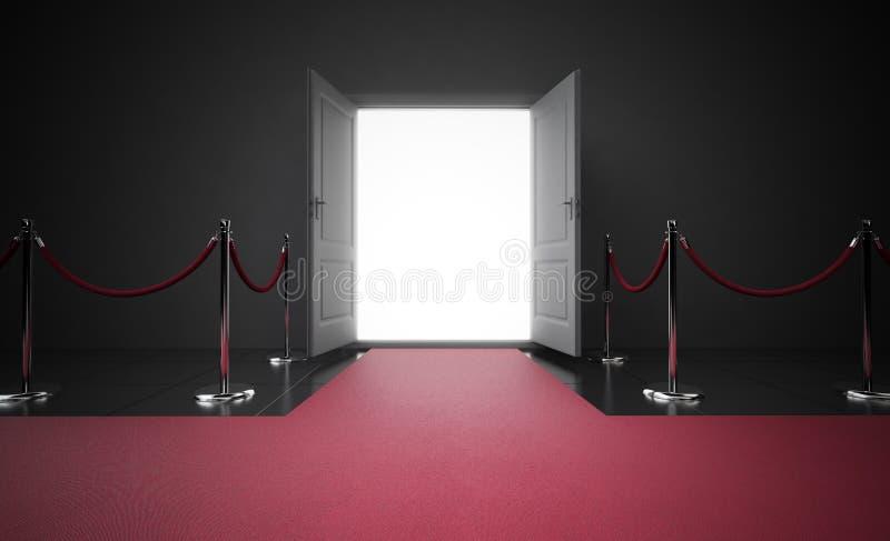 Entrada do tapete vermelho ilustração do vetor