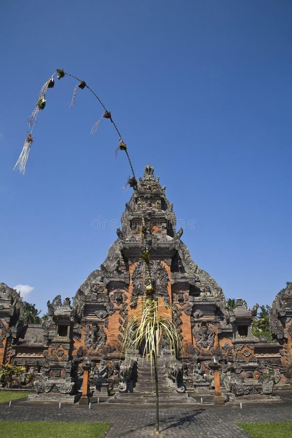 Entrada do templo de Bali fotos de stock