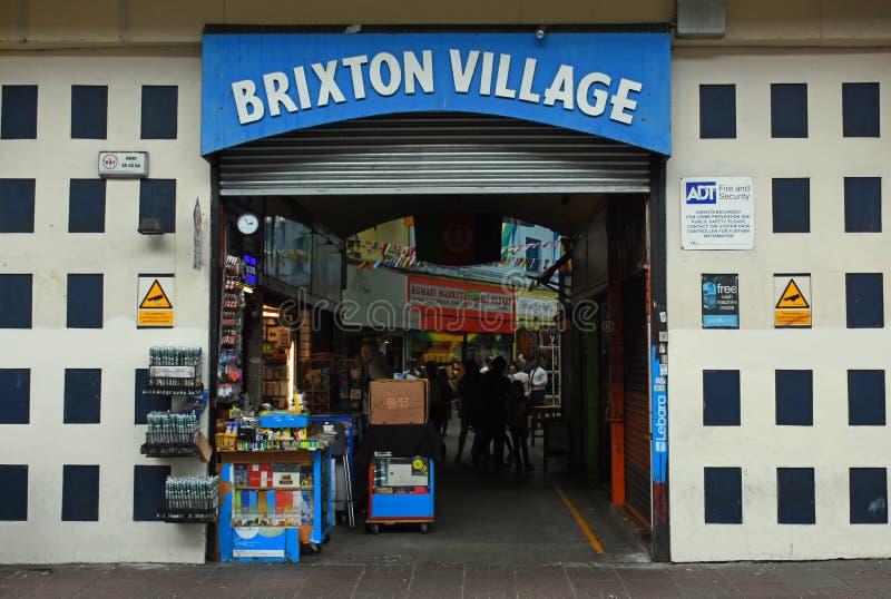 Entrada e sinal, Brixton Village, Londres sul, Inglaterra foto de stock