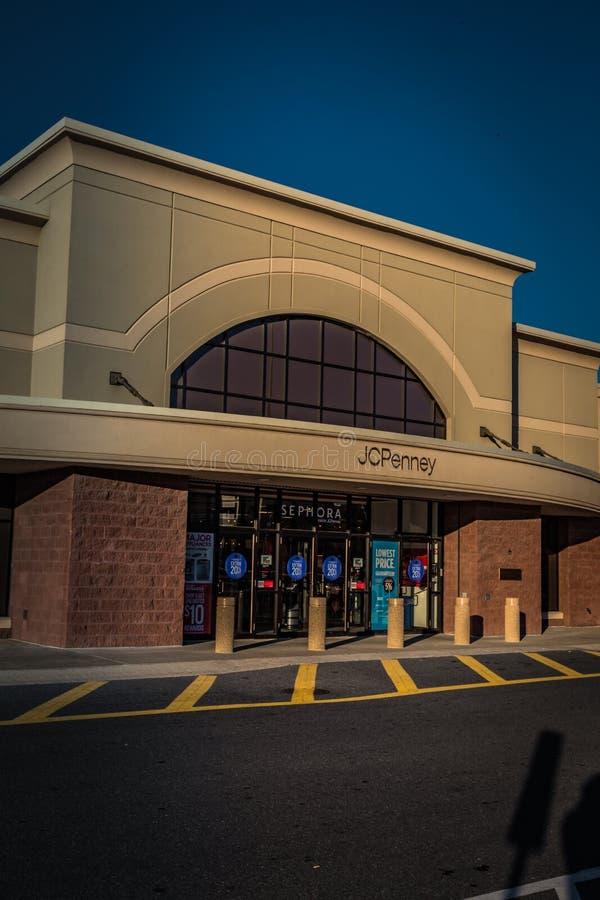 Entrada exterior de JC Penny Store imagens de stock