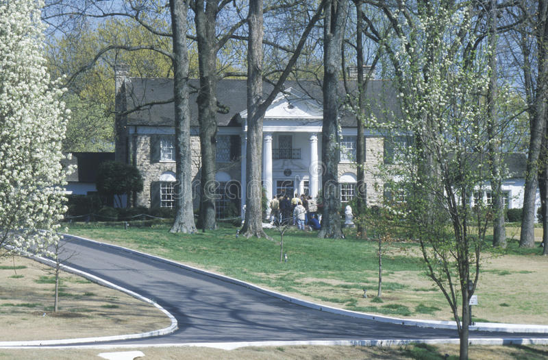 Entrada a Graceland, casa de Elvis Presley, Memphis, TN imagens de stock