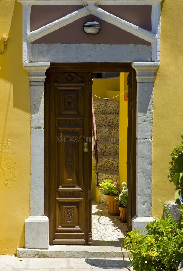Entrada grega foto de stock royalty free
