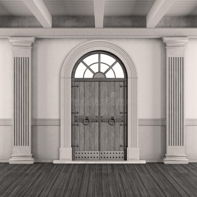 Entrada home clássica preto e branco ilustração royalty free