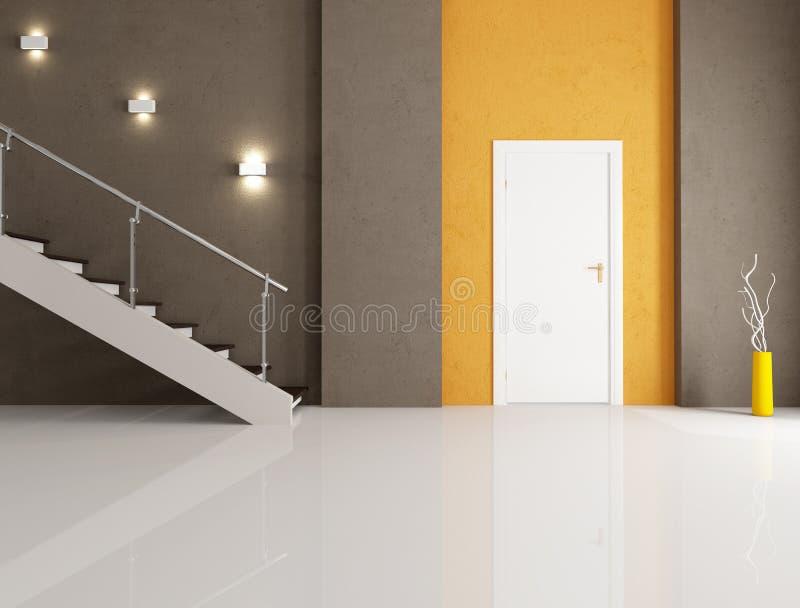 Entrada home minimalista ilustração royalty free