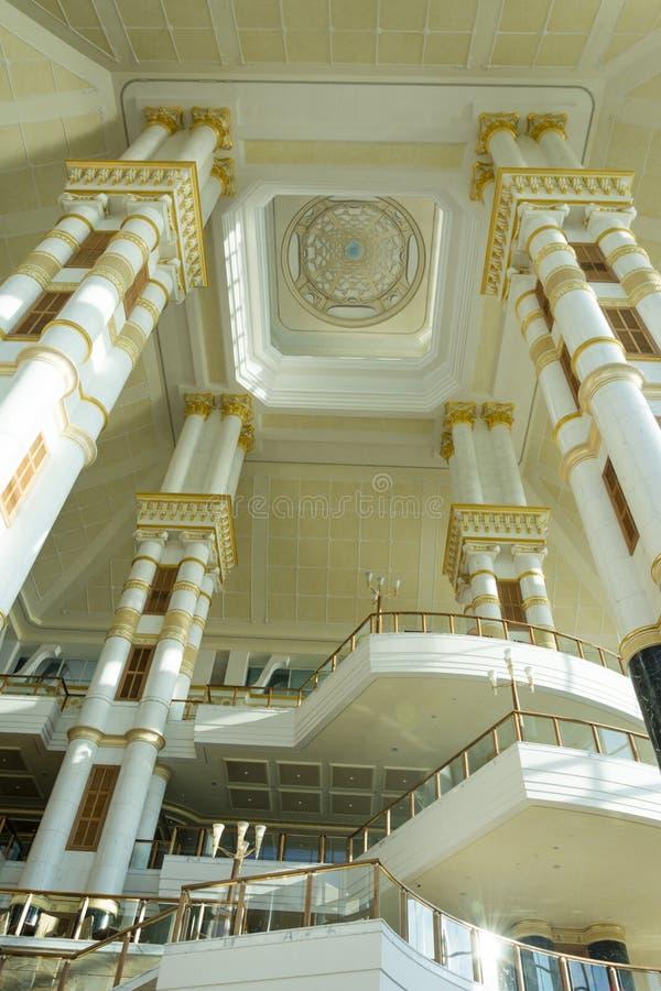 Entrada imperial do hotel, Brunei Darussalam imagem de stock