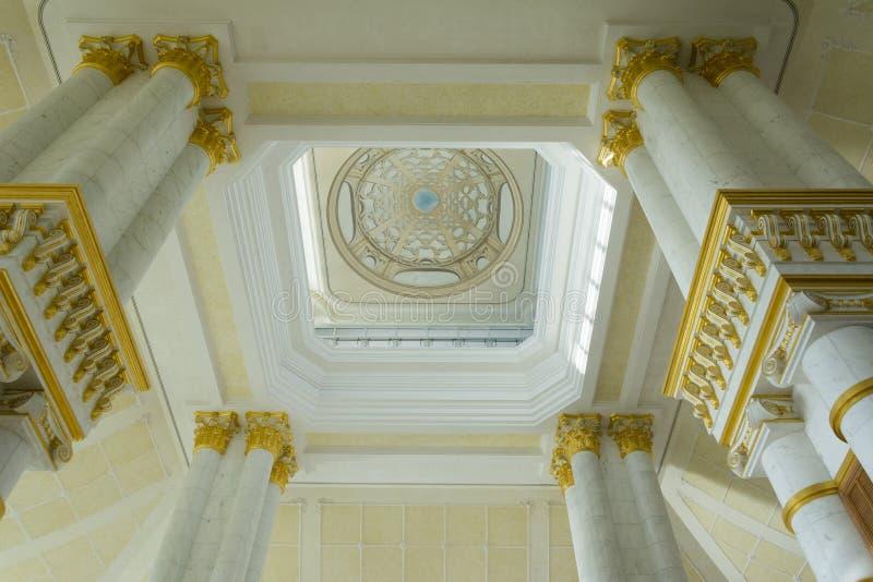 Entrada imperial do hotel, Brunei Darussalam foto de stock