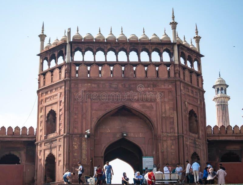Entrada a Jama Masjid Mosque imagem de stock royalty free