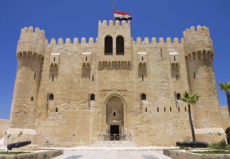 Entrada a la ciudadela de Qaitbay imagen de archivo libre de regalías