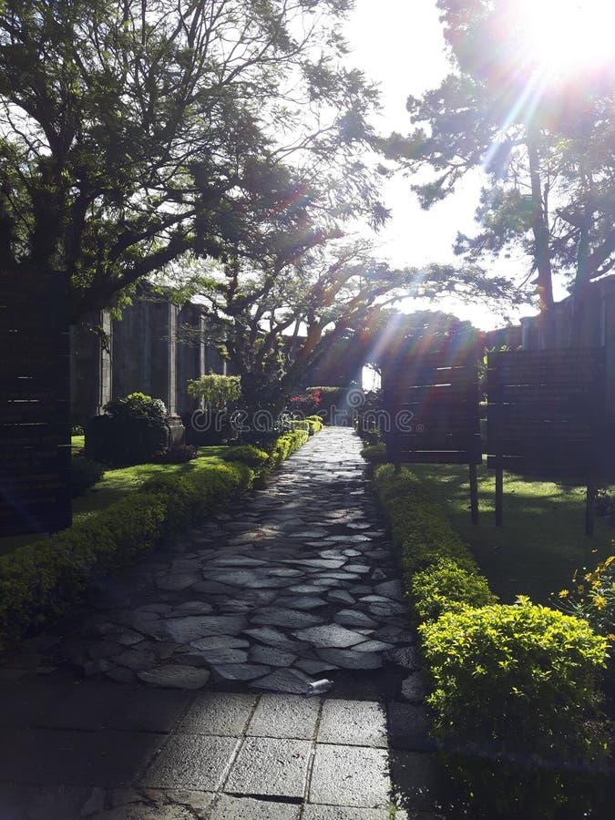 Entrada a las ruinas, Costa Rica, un edificio histórico imágenes de archivo libres de regalías