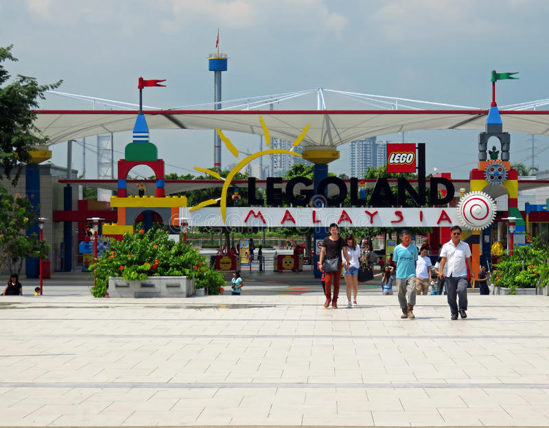 Entrada a Legoland Malasia imagen de archivo