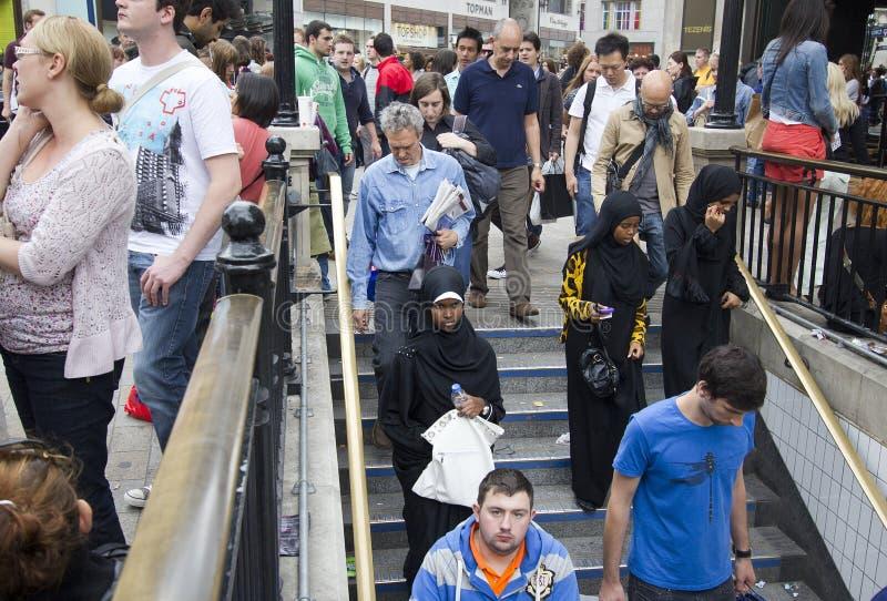 Entrada Londres do metro foto de stock royalty free