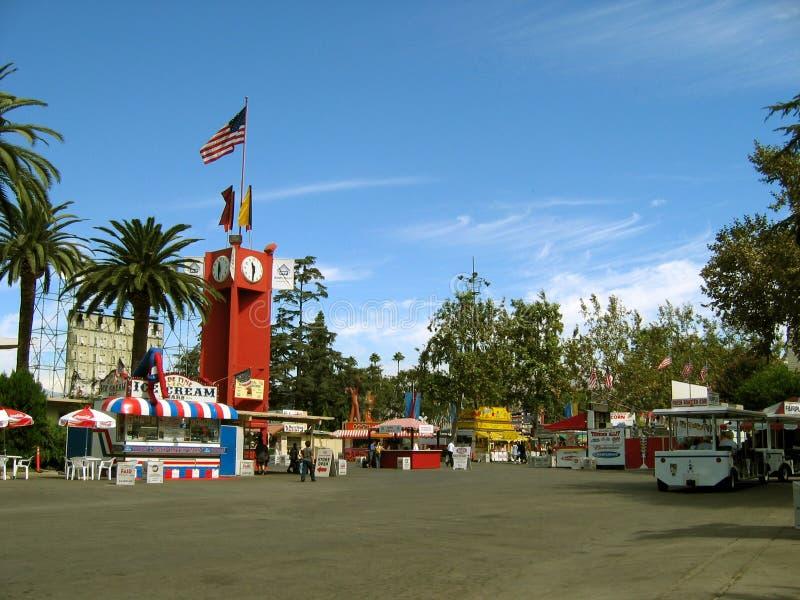 Entrada a los parques de atracciones, el condado de Los Angeles justo, Fairplex, Pomona, California fotos de archivo libres de regalías
