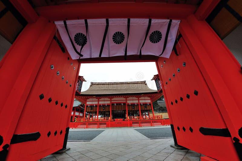 Entrada magnífica del templo en Japón fotos de archivo libres de regalías