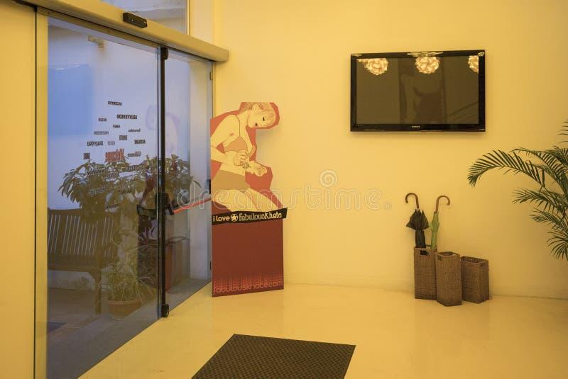 Entrada moderna do hotel, Nápoles, Itália imagens de stock