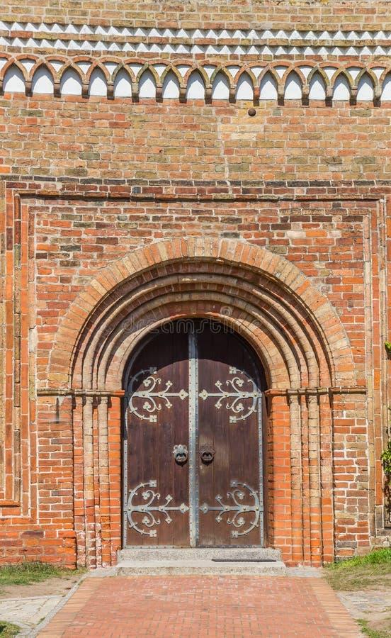 Entrada na igreja dom Ratzeburg fotografia de stock