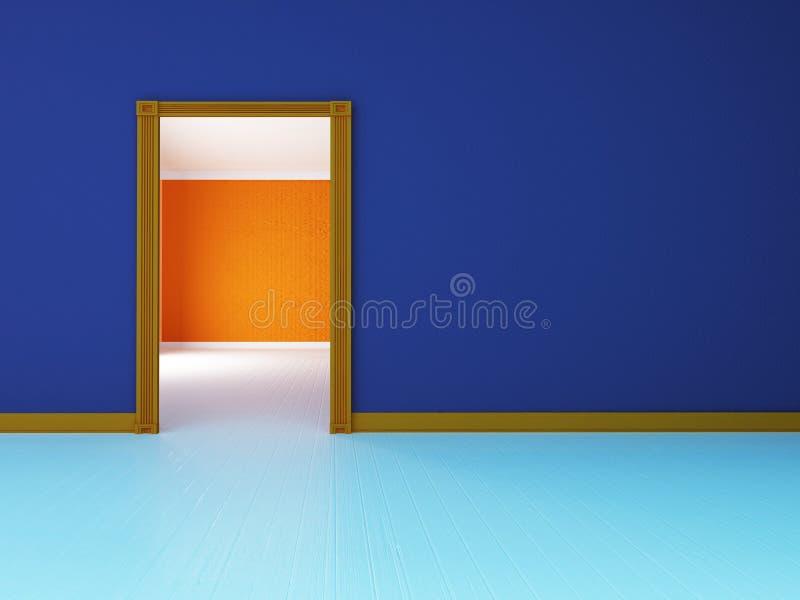 Entrada na sala vazia, 3d ilustração do vetor