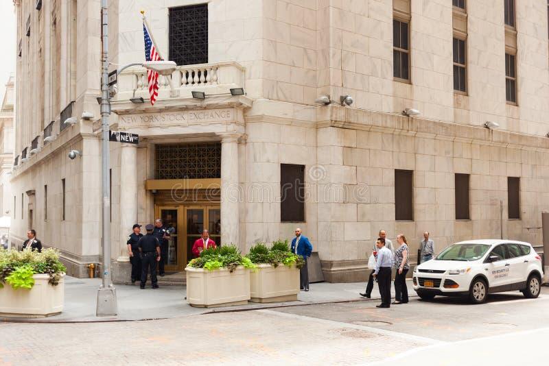 Entrada a New York Stock Exchange em Manhattan fotos de stock royalty free