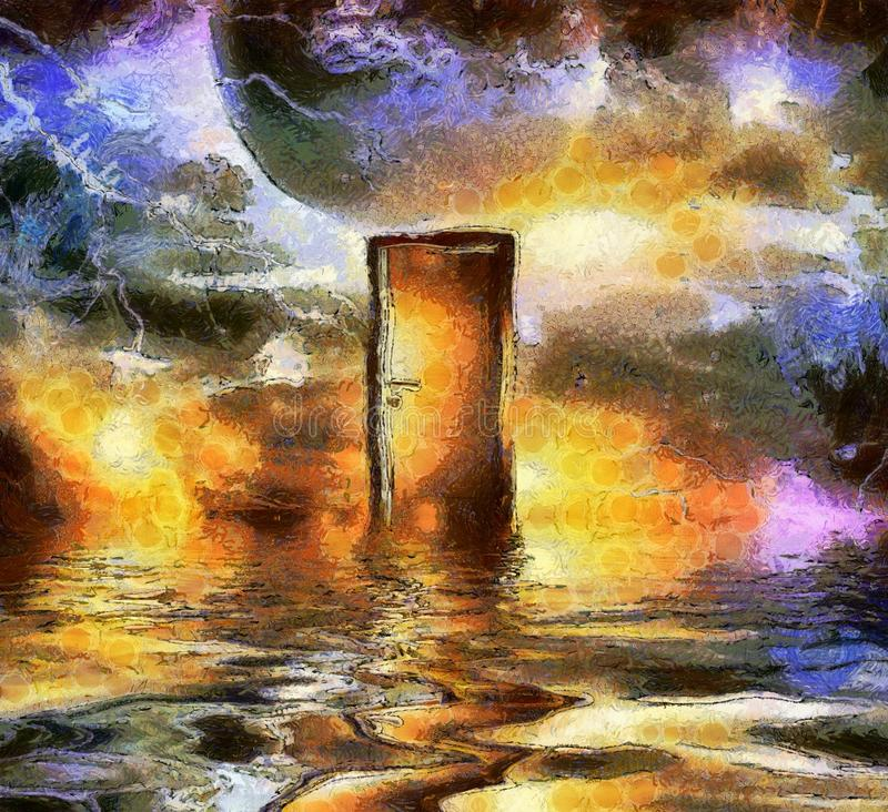 Entrada no espaço cósmico ilustração stock