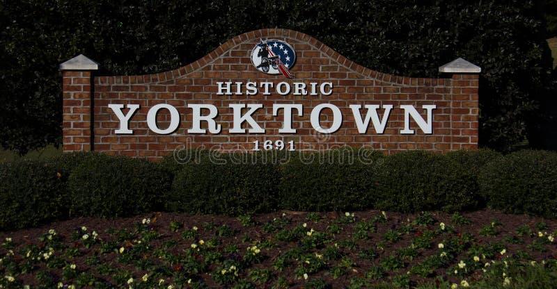 Entrada no Yorktown Battlefield foto de stock