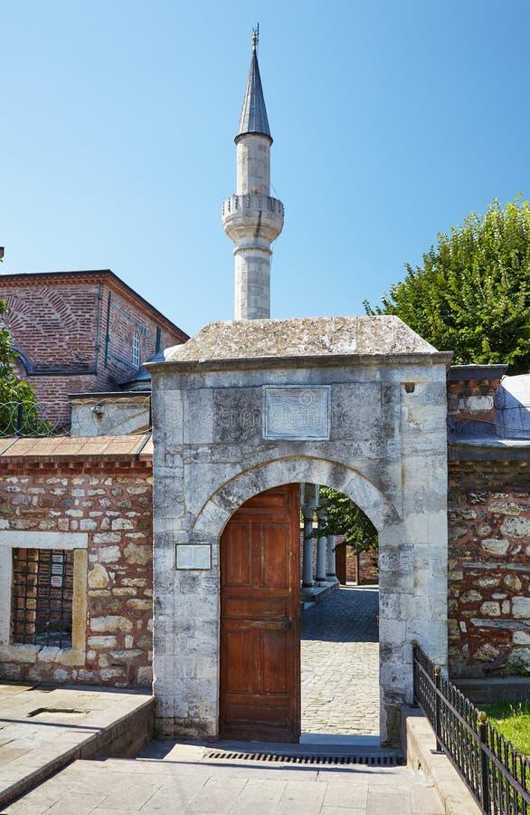 A entrada norte a pouco Hagia Sophia, Istambul foto de stock