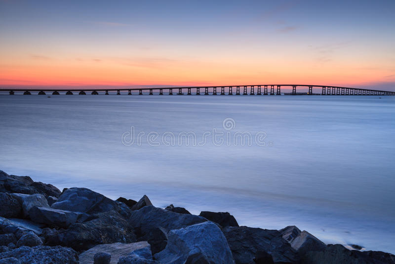 Entrada North Carolina de Oregon da ponte de Bonner fotografia de stock royalty free