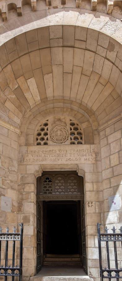 Entrada a Notre Dame de Sion Ecce Homo Convent, Jerusalém, Israel imagem de stock royalty free