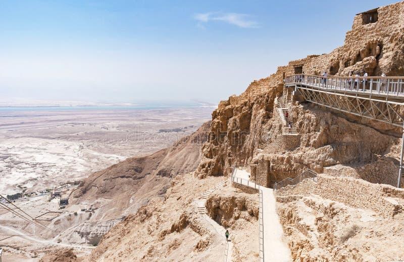 Entrada oriental à fortaleza de Masada em Israel fotografia de stock royalty free