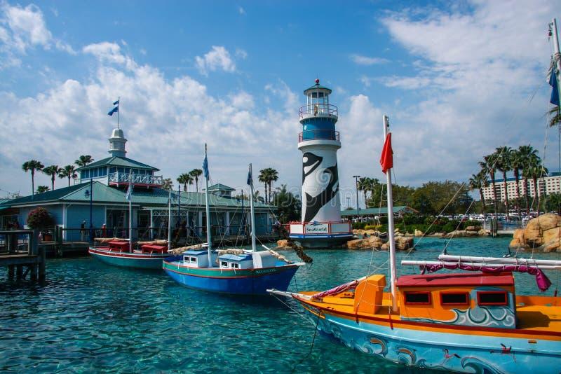 Entrada para aventurar-se o mundo do mar do parque em Orlando fotos de stock royalty free