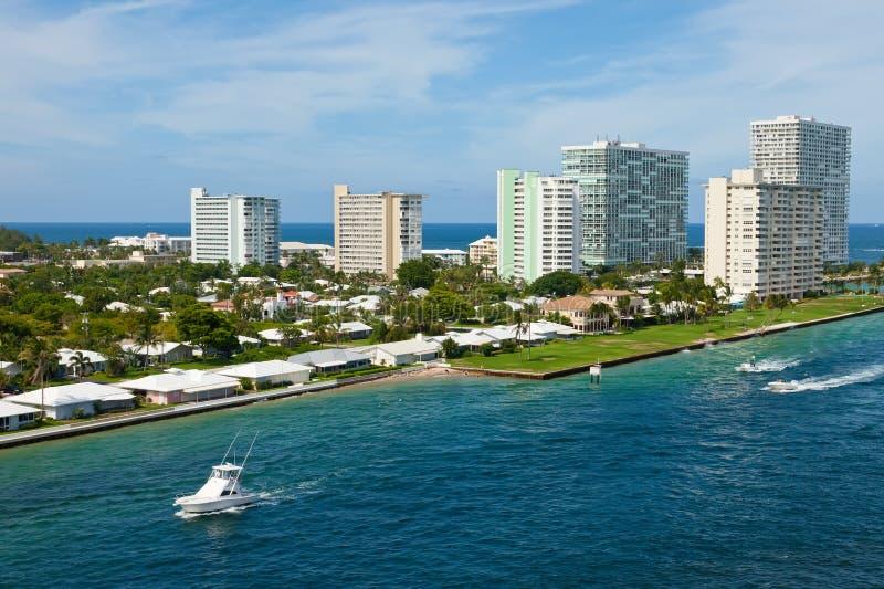 Entrada para virar los marismas hacia el lado de babor la Florida imagen de archivo libre de regalías