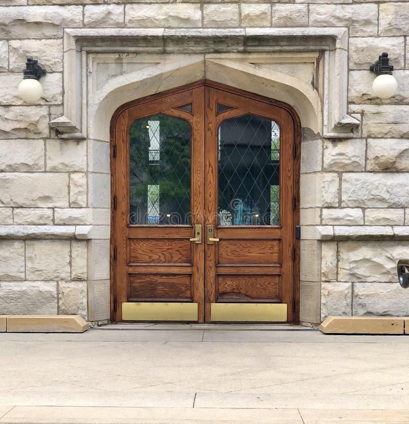Entrada principal à estação de bombeamento da avenida de Chicago foto de stock royalty free