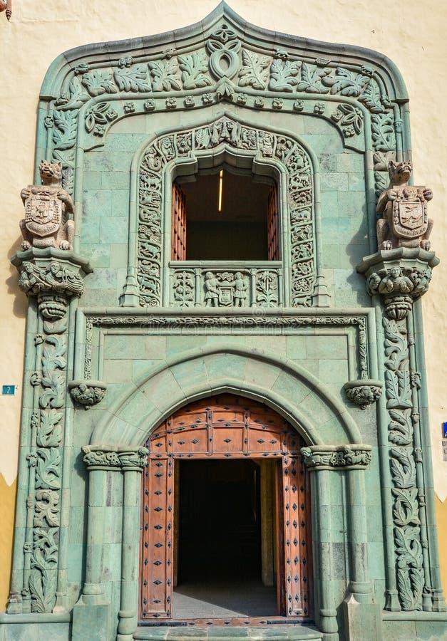 Entrada principal a Casa de Colon (la casa de Christopher Columbus), Las Palmas, Gran Canaria fotos de archivo libres de regalías
