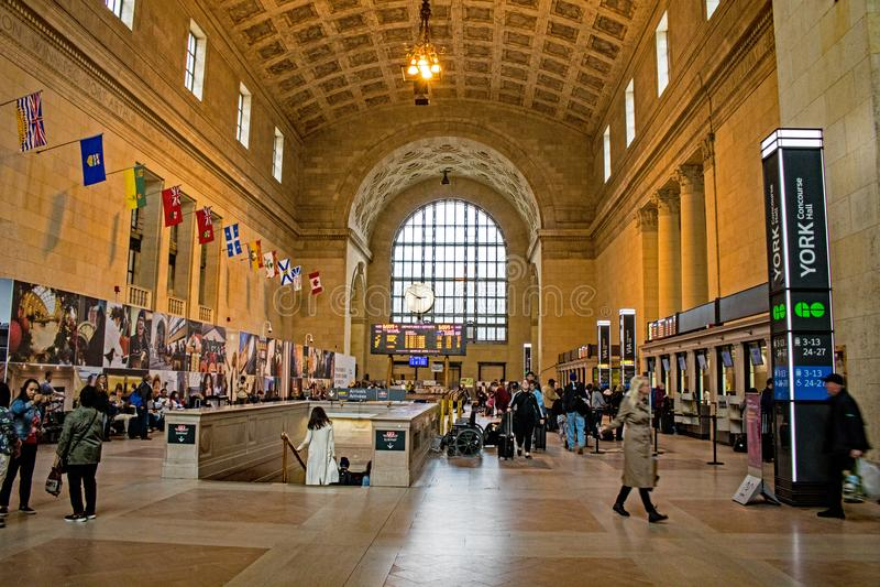 Entrada principal da estação em Toronto, Ontário da união, Canadá imagem de stock royalty free