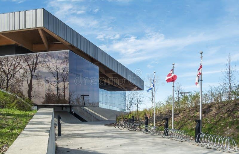 Entrada principal de estádio de futebol de Montreal foto de stock royalty free