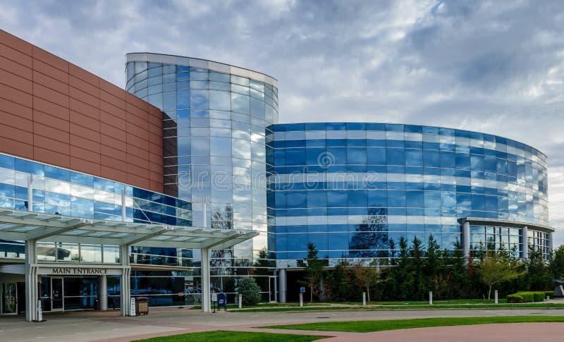 Entrada principal de Floyd Memorial Hospital fotos de stock royalty free