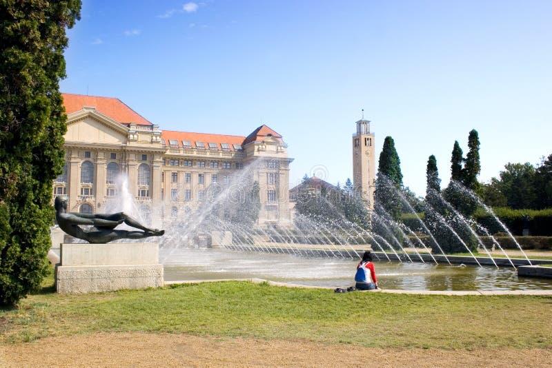 Entrada principal de la universidad imagen de archivo libre de regalías