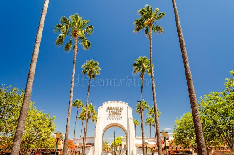 Entrada principal de los estudios universales, Hollywood, California foto de archivo libre de regalías