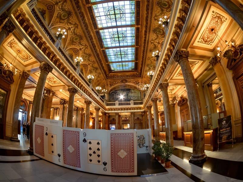 Entrada principal de Monte Carlo Casino en Mónaco fotos de archivo