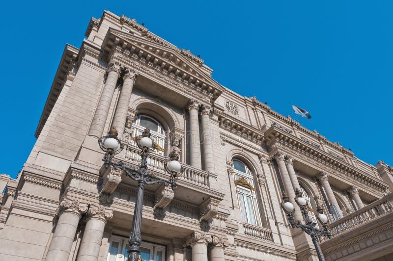Entrada principal do teatro dos dois pontos em Buenos Aires imagens de stock royalty free