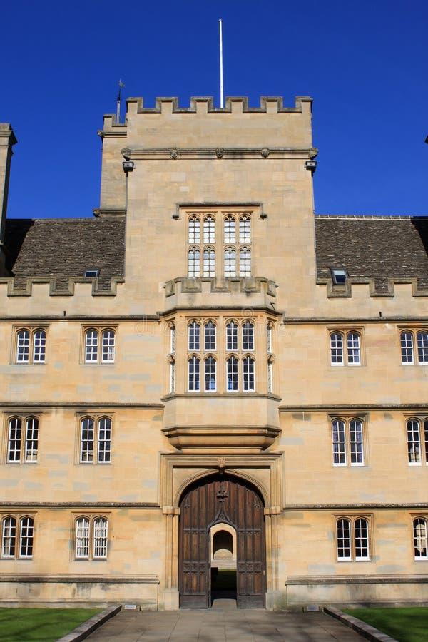 Entrada principal a la universidad de Wadham, Universidad de Oxford fotografía de archivo