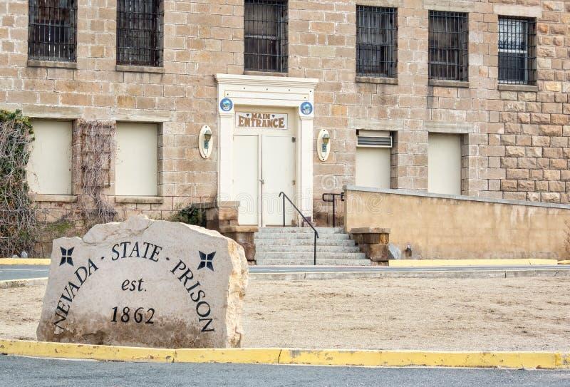 Entrada principal, Nevada State Prison histórica, Carson City imágenes de archivo libres de regalías