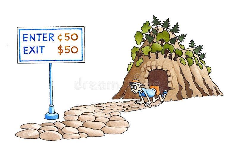 Entrada/saída ilustração do vetor