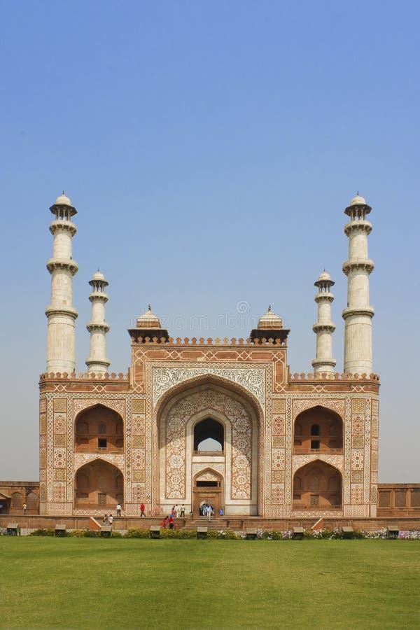 Entrada a Sikandra, tumba de Akbar imagen de archivo libre de regalías