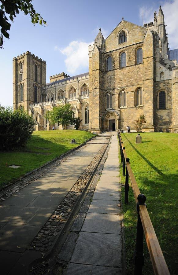 Entrada sul do transept, catedral de Ripon imagens de stock royalty free