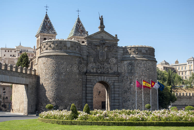 Entrada a Toledo en España fotografía de archivo