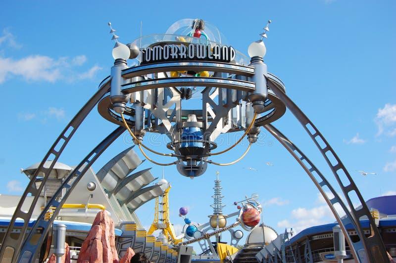 Entrada a Tomorrowland en el mundo de Disney fotografía de archivo libre de regalías