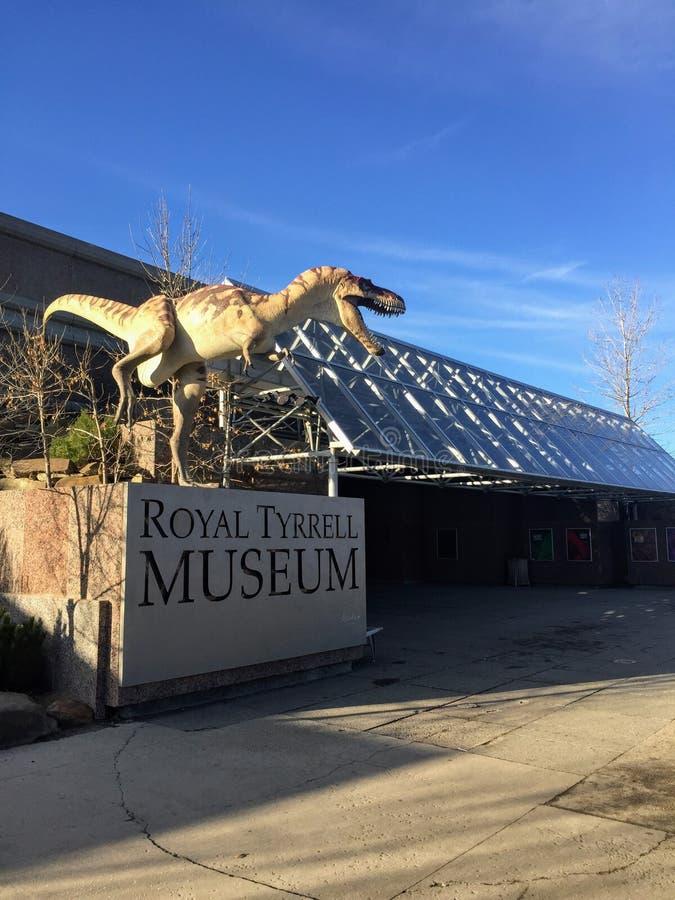 A entrada a Tyrell Museum real mundialmente famoso fotos de stock